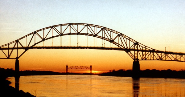 Cape Cod bridges at sunset