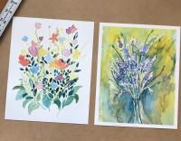 flowers, lavender, wildflower