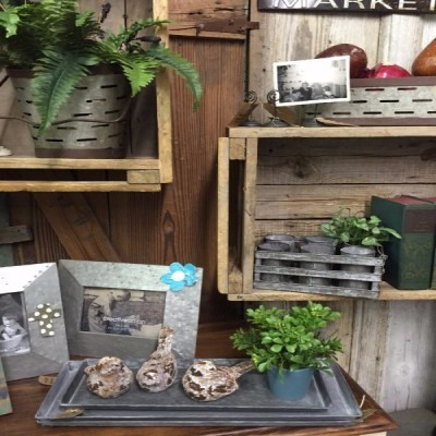 Metal frames, book ends, metal baskets, yard decor, seasonal decorations