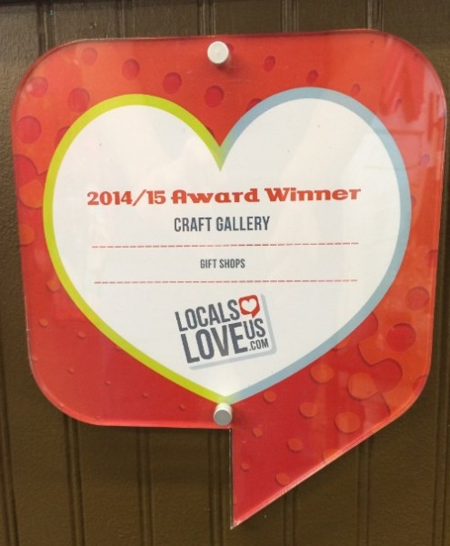 Best Gift Shop winner by Locals Love Us