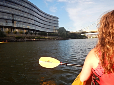 Kayaking Dowtown (Pittsburgh, PA)