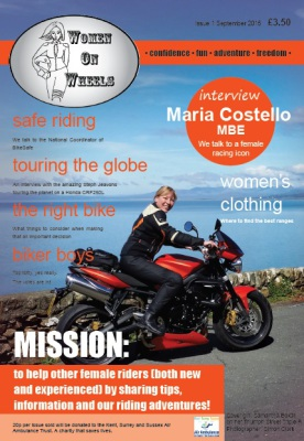 Photo of the Women On Wheels UK magazine cover of issue 1