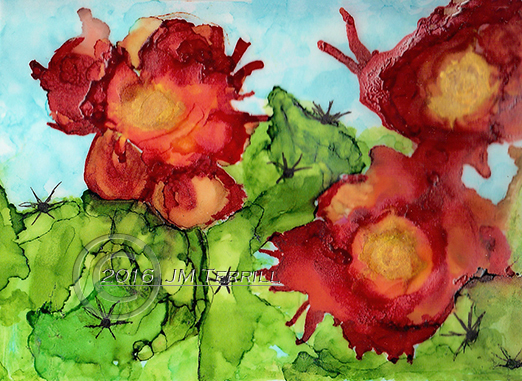 Prickly Pear on Velum
