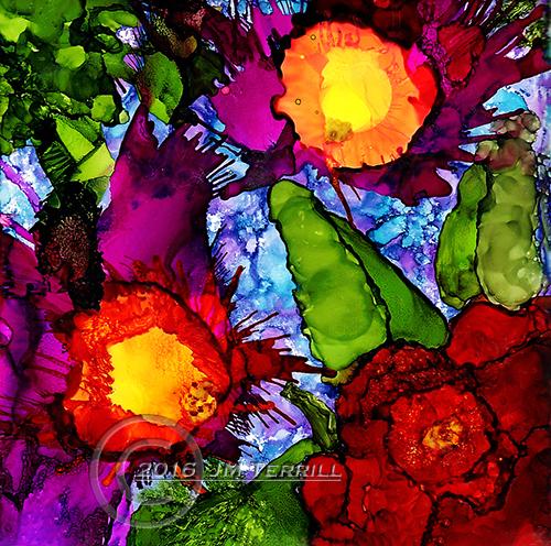 Rose and Iris