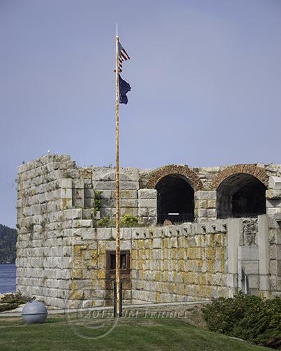 Flag Over Fort Popham