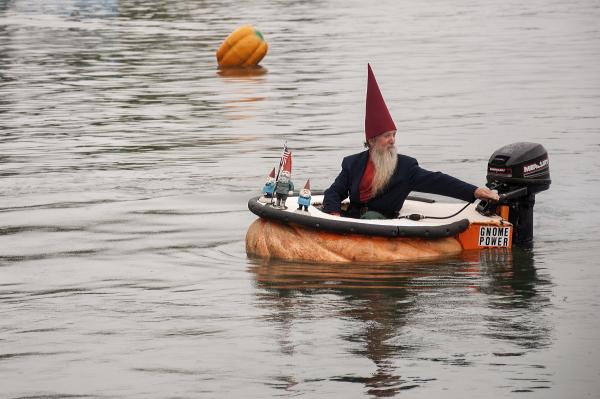Gnome's Outboard Pumpkin