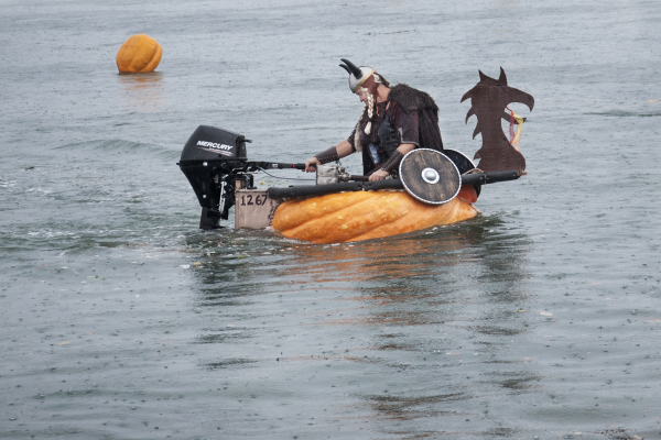Viking Pumpkin Boat