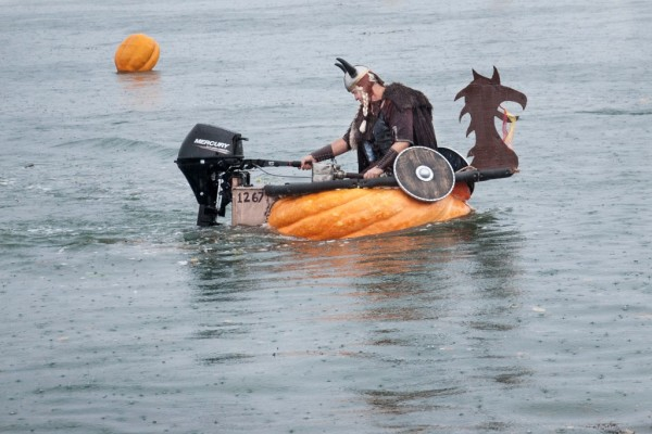 Viking Pumpkin Boat