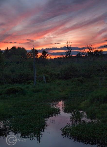 Sunset on West Cathance Stream