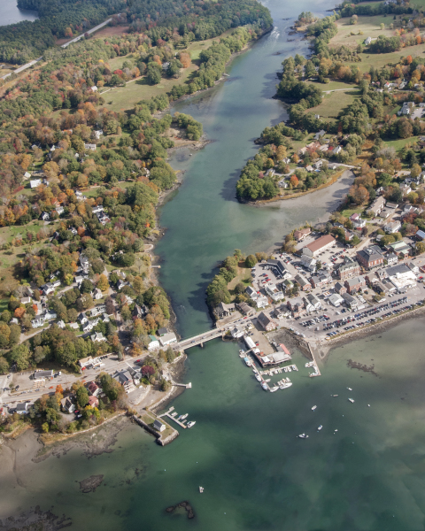 Damariscotta and Newcastle Aerial