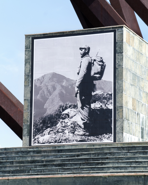 Fidel monument in Santiago de Cuba