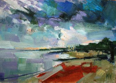 The Cob, Lyme Regis (storm coming)