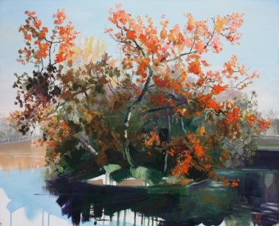 Carshalton Ponds (autumn trees)