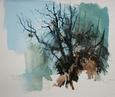 Beddington Park (a walk in the trees, winter)