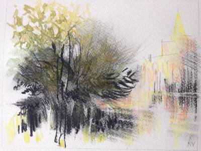 Evening Summer Sun, Carshalton Ponds