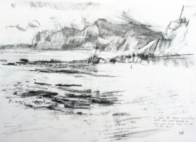 West Bay Beach, looking towards West Cliff Eype Dorset