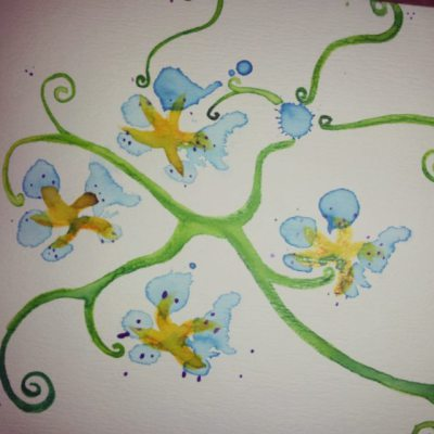 Paw Print Floral 17
