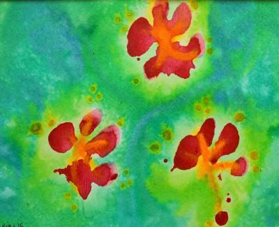Paw Print Floral 6