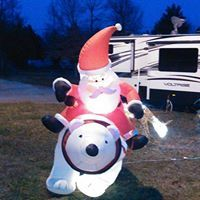 Santa on a Bear