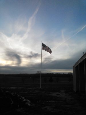 Our new flagpole and flag