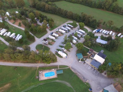 Office, Pool, Original Park Sites & Storage Area