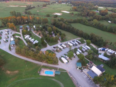 General Aerial of RV Site Areas