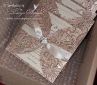 crystal gold invites petal fold