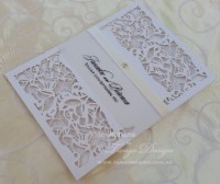 Laser cut pocket sleeve invitation