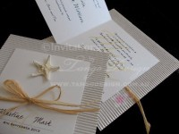 beach wedding invites starfish