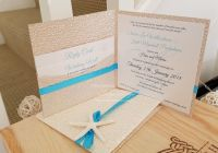 Beach wedding invitation destination invites starfish pocket