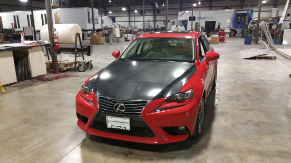 4d Carbon FIber hood on this Lexus
