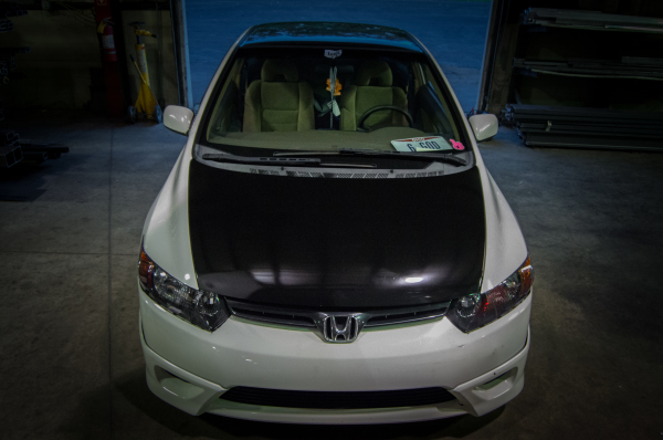 Civic hood, roof, trunk and wing in gloss black