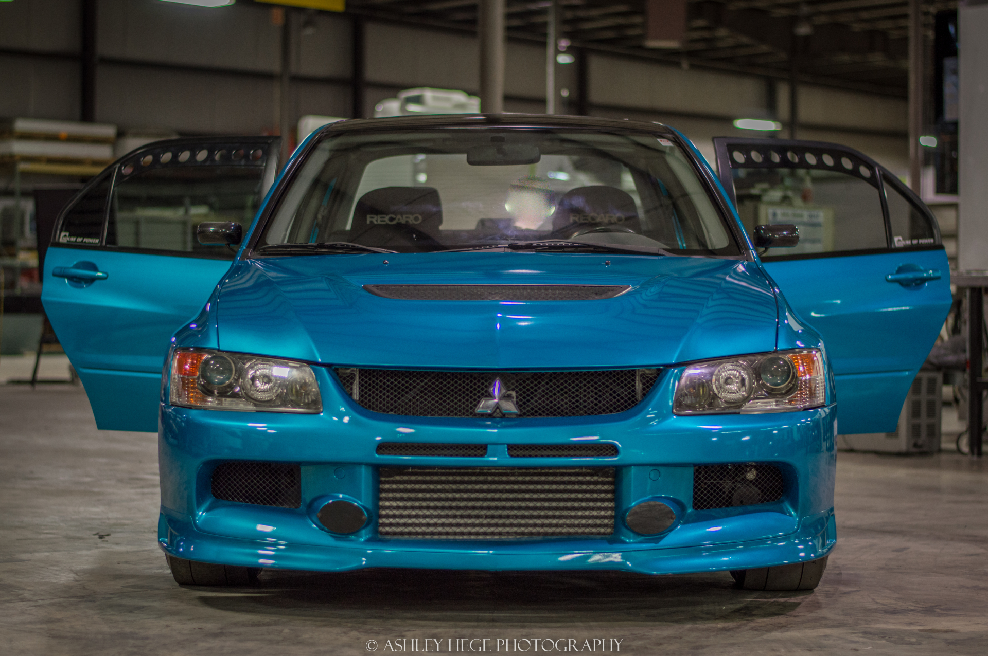 Full wrap in Atomic Teal on this Evo 9