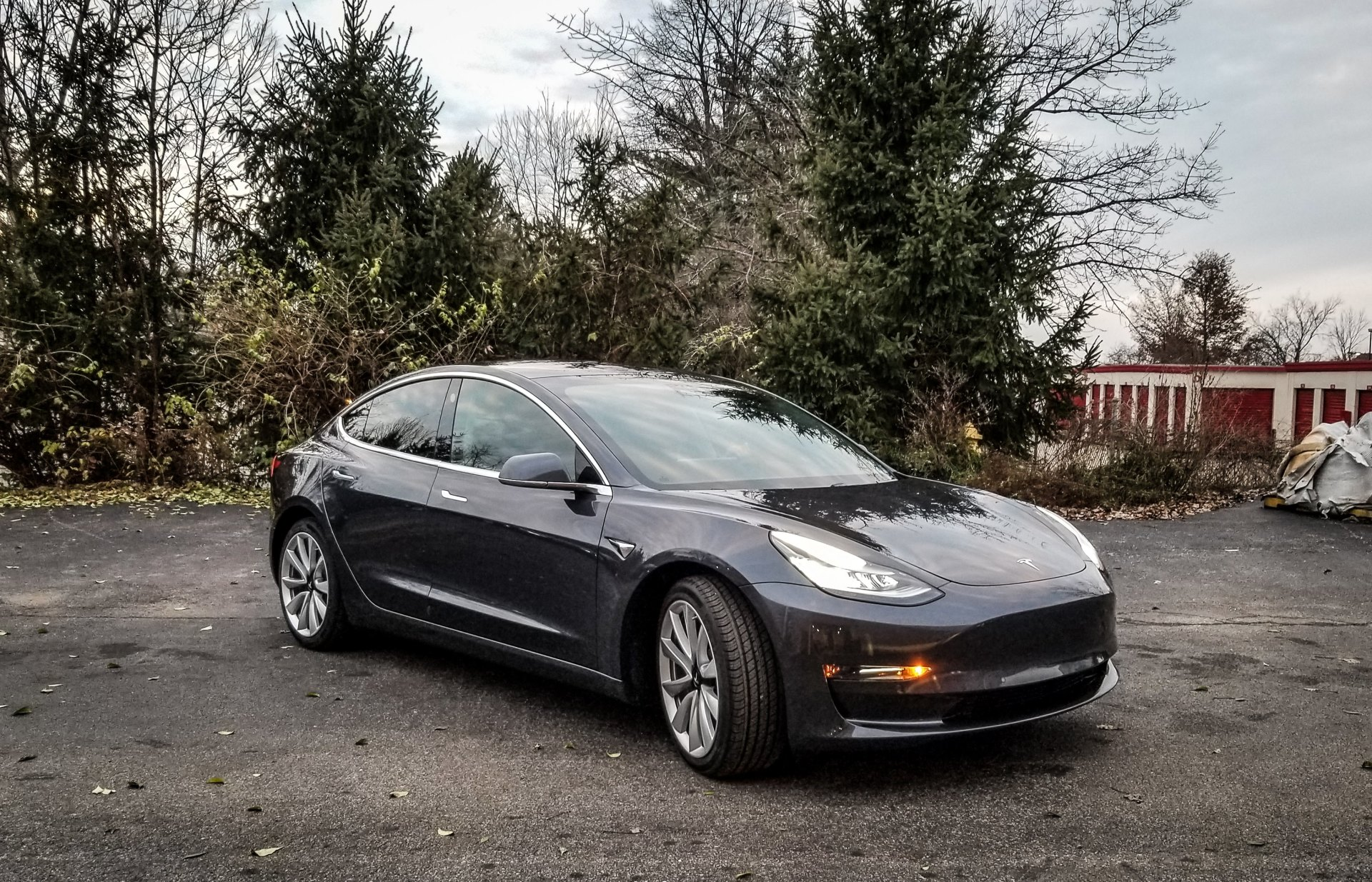 2018 Tesla Model 3 after a Stage 1 Correction, CP Gold and SunTek Carbon tint.