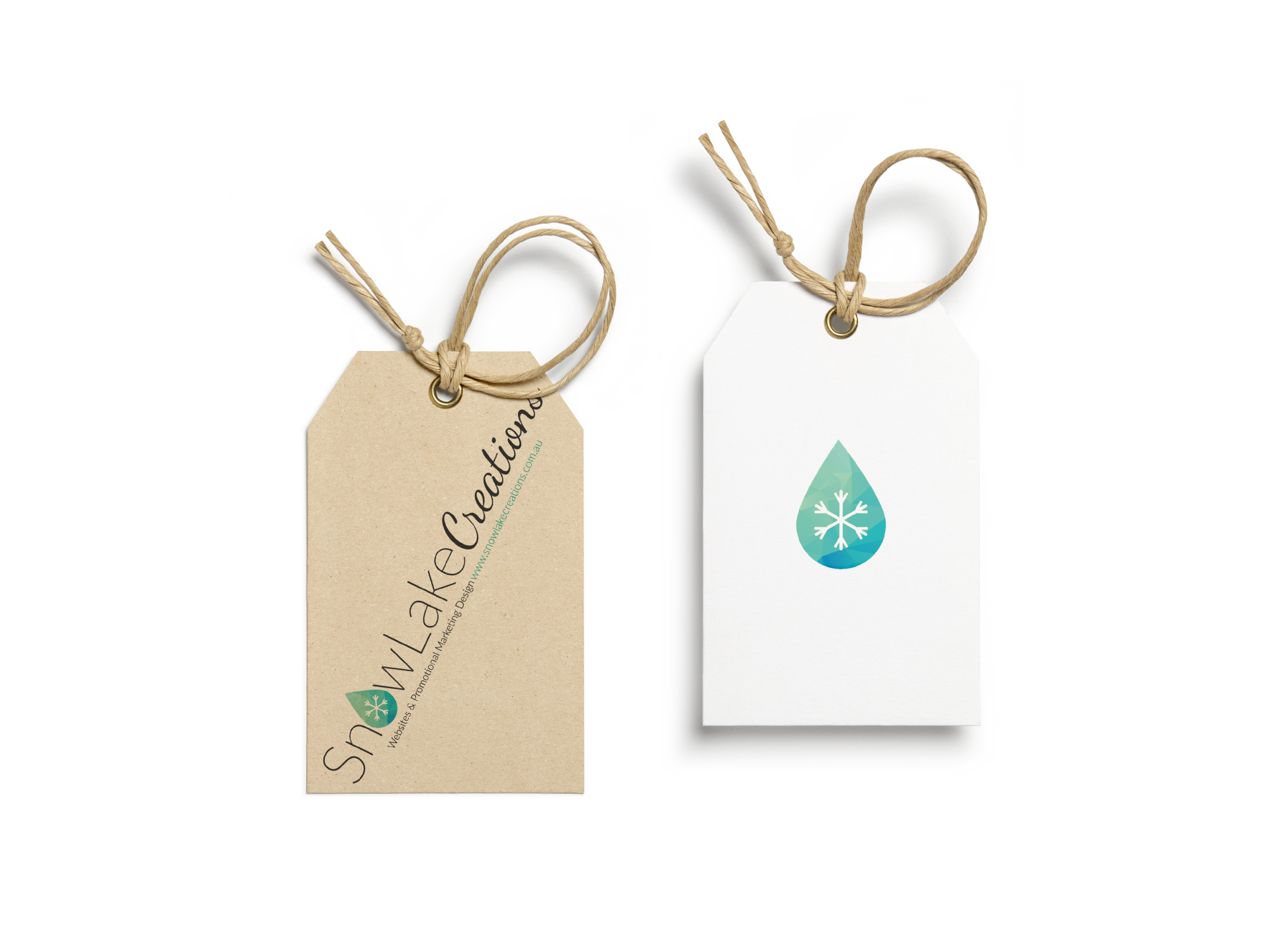 SnowLake Marketing Design offers print design of all sorts of items including tags & labels