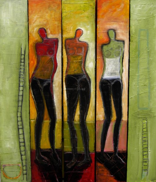 Expressionistic Figure Painting Series Susan Hargrove