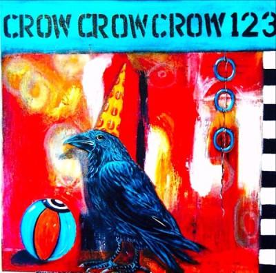 "Circus Crow, 24""x  24"", $475"