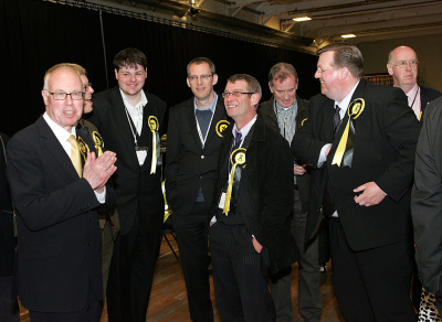 George with East Lothian SNP party workers and Councillors