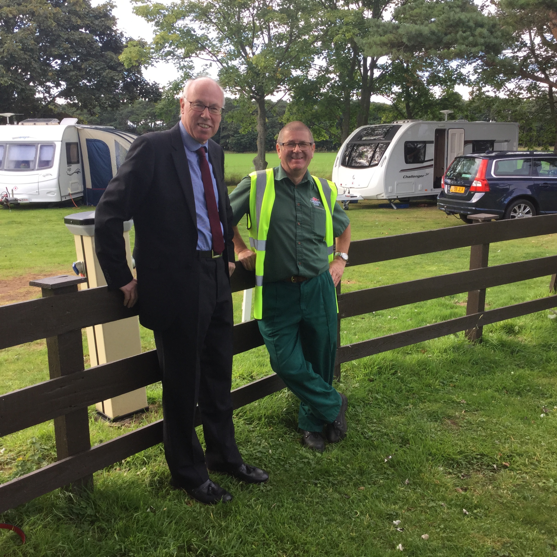 Visiting the Caravan Club site at Yellowcraigs