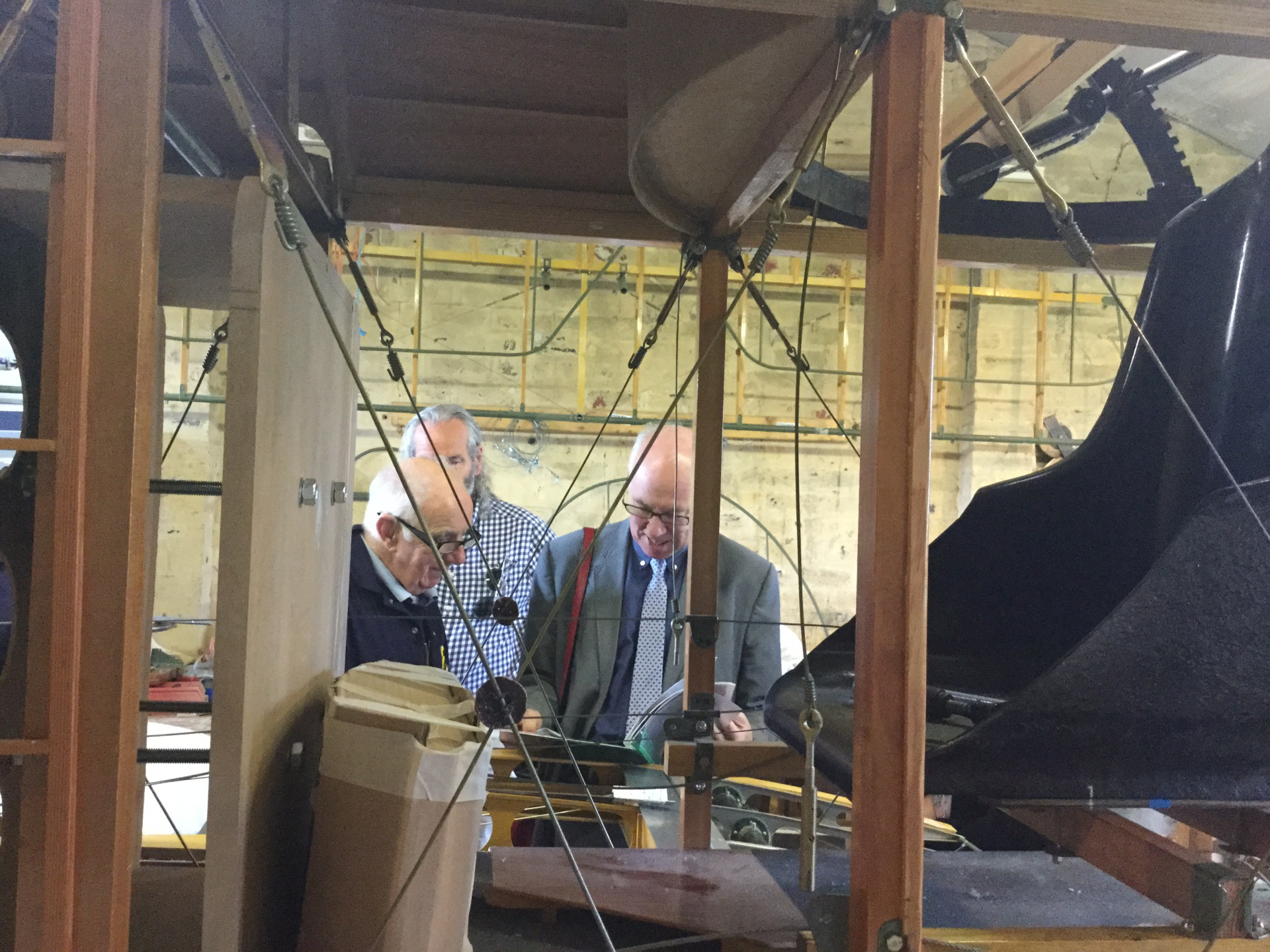 Meeting members of the Aircraft Preservation Society of Scotland building Sopwith Strutter replica at East Fortune