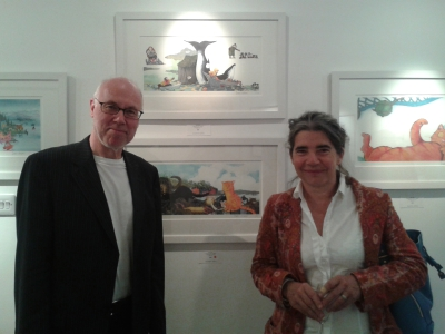 Attending the opening of an Edinburgh Festival exhibition featuring Haddington-based artist and writer Debi Gliori