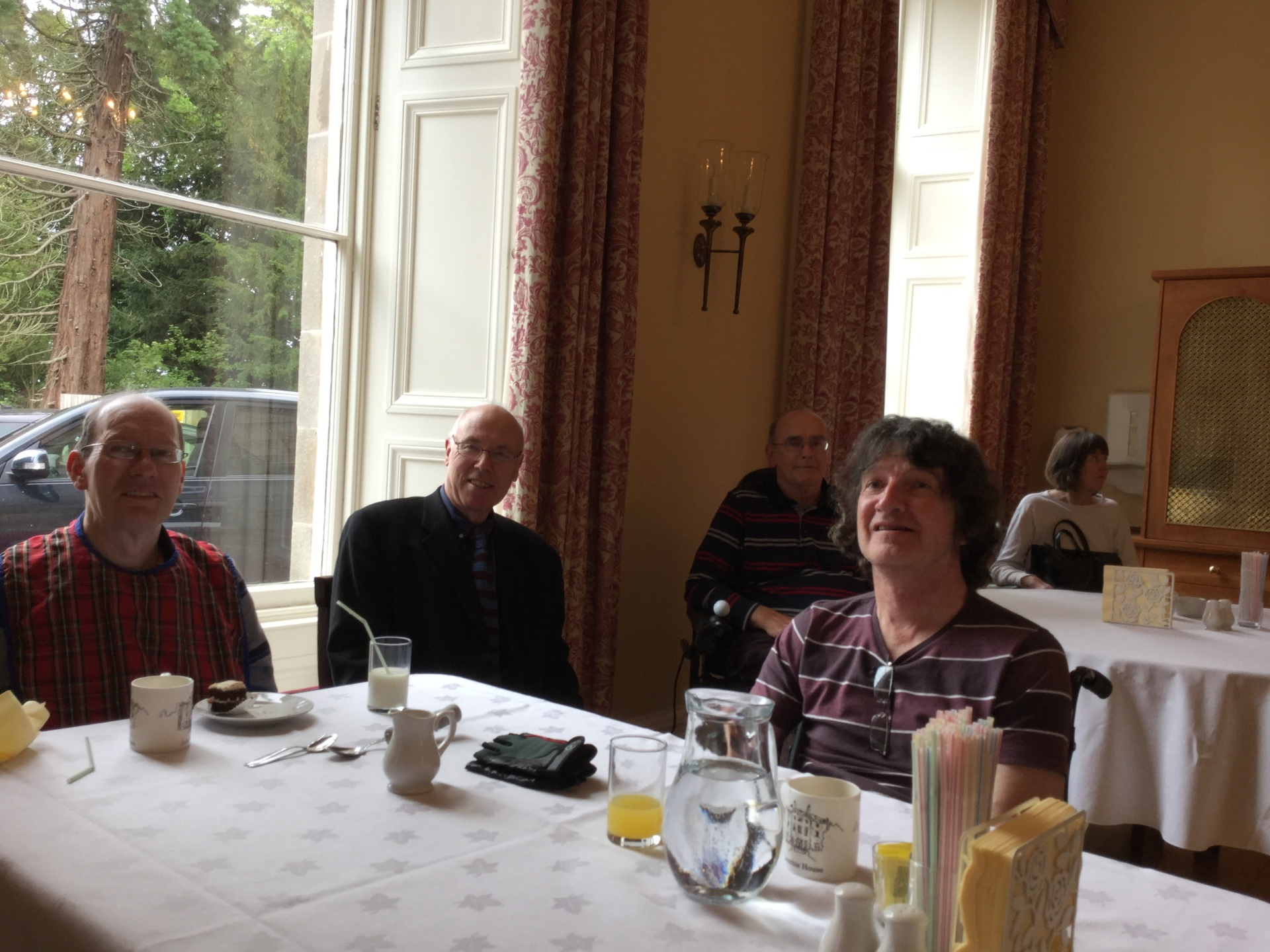Lunching with Musselburgh constituent at Leuchie House, North Berwick
