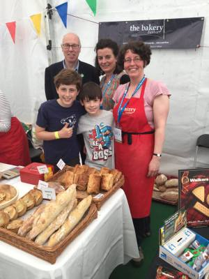 Shopping at the Dunbar Bakery stall at the Big Nature Festival, Musselburgh