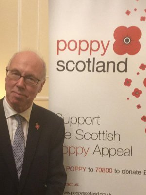 At the launch of Poppy Scotland 2015