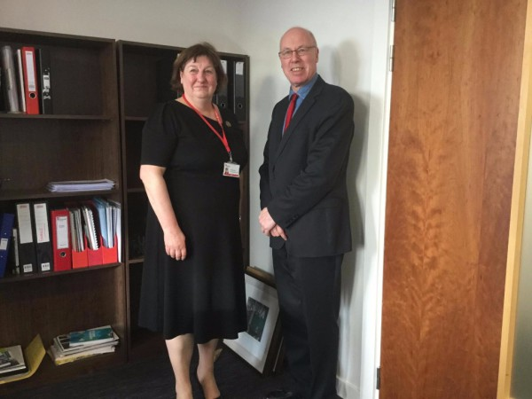 George Kerevan and Annette Bruton, Principal of Edinburgh College