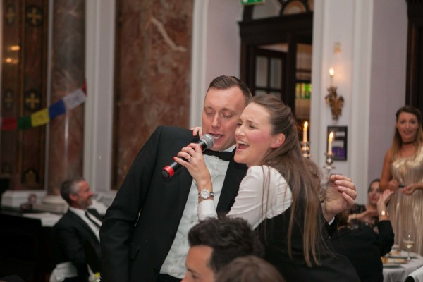 One of the guests getting in on the action