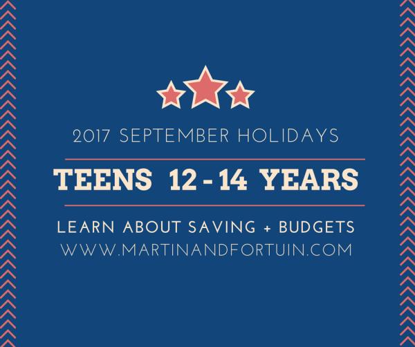 Teens 12 - 14 Years: Savings & Budgets