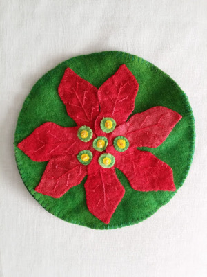 Poinsettia Party Coaster Recipe Card