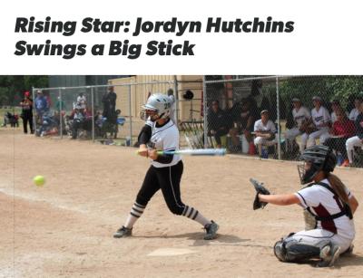 Flosoftball names Jordyn Hutchins rising star!