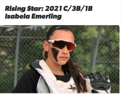 Flosoftball names Isabela Emerling rising star!